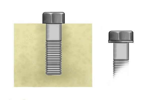 Hexagonal screw head