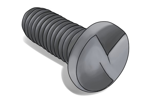 Security screw with a raised head