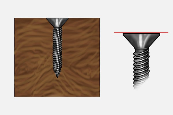 What are the types of screw head?