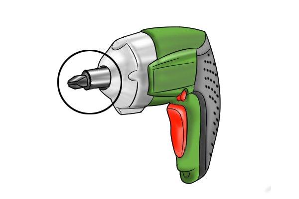Magnetic bit holder cordless screwdriver
