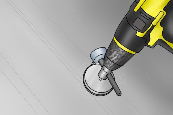 When the drill or brace is operated, the tank cutter rapidly rotates and a circular hole is cut by the steel blade.