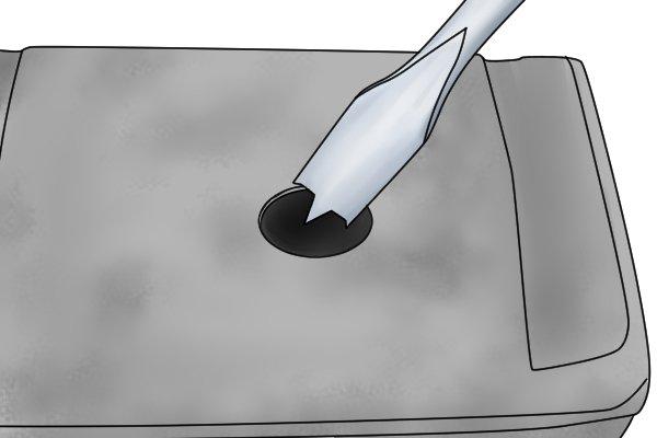 how to cut circular holes in foam