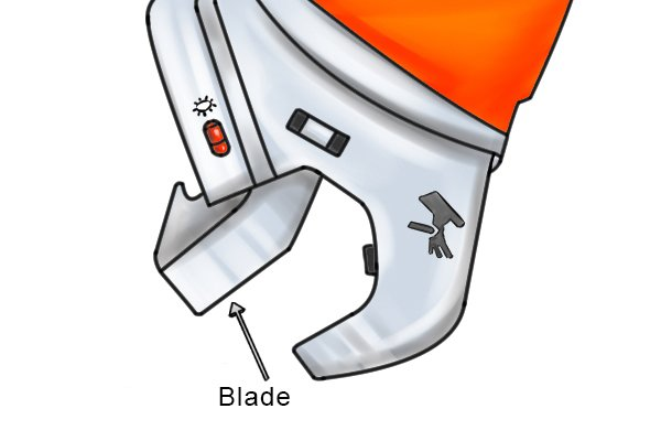 Parts of a power tube cutter; Blade