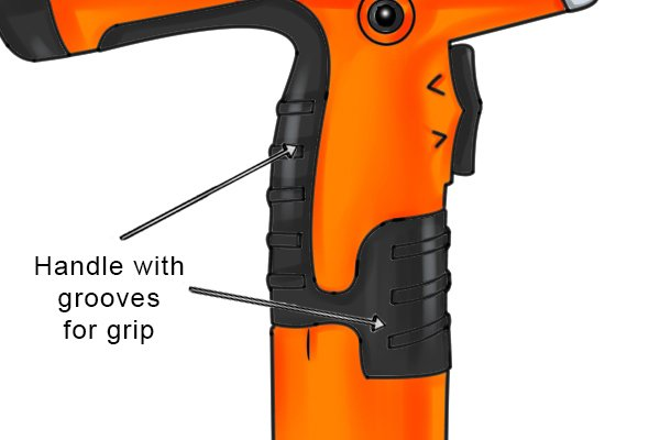 Parts of a power tube cutter; blade removal switch