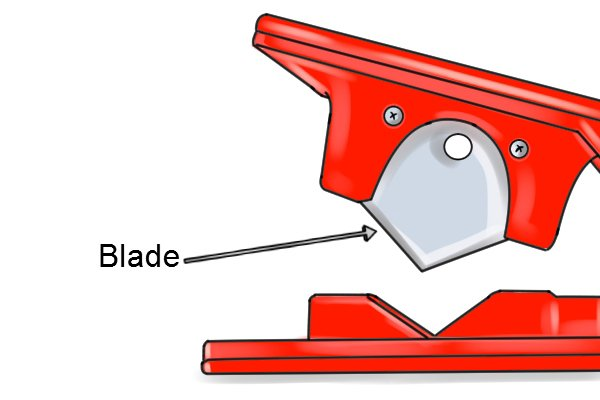 Parts of a pivot tube cutter; blade