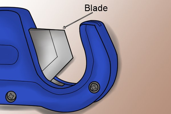 Parts of a trigger tube cutter; blade