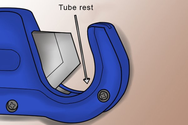 Parts of a trigger tube cutter; tube rest