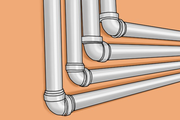 PVC pipe water lines