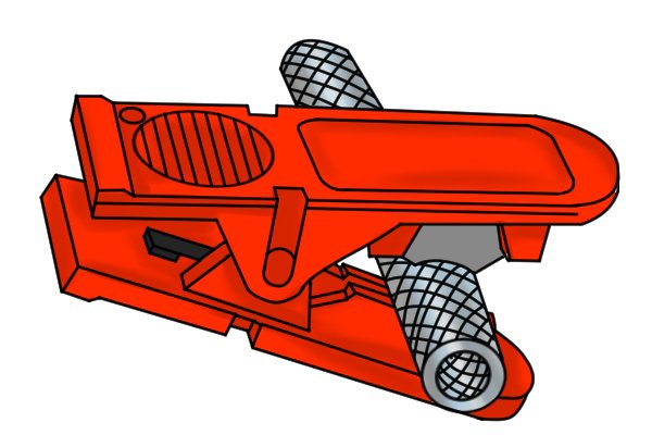 Pivot joint tube cutter