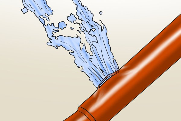 leaky pipe, plumbing, copper pipe, water leak, tracing dye