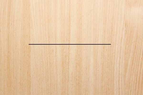 Step 1 - Draw line Draw a line onto your workpiece.