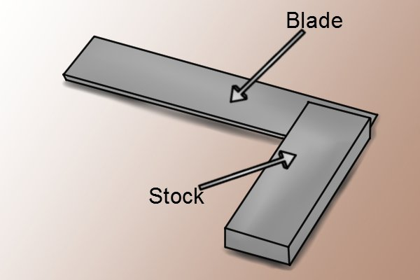 Step 2 - Clamp trammel head onto engineers square or try square Clamp the trammel head onto the blade of the square a set distance from the edge of its stock.