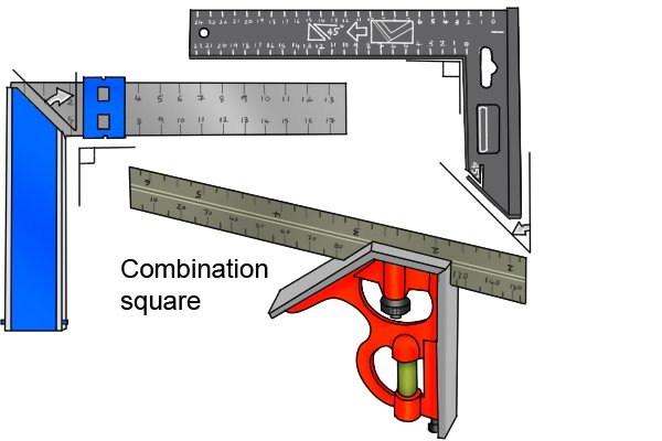 try and mitre square and combination square