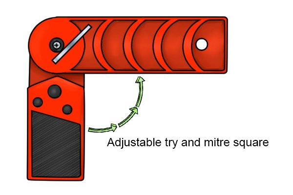 adjustable try and mitre square