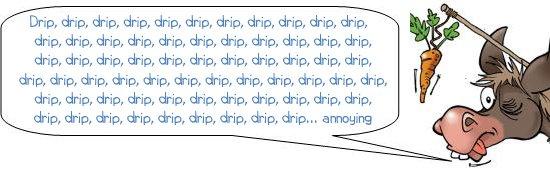 """Wonkee donkee says """"Drip, drip, drip......drip.. annoying"""""""