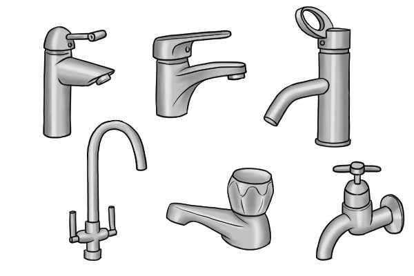 What are the different types of water tap for Different type of water