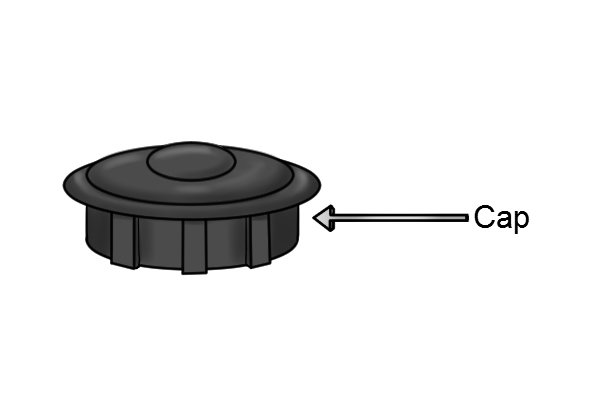 compression washer tap cap or screw cover