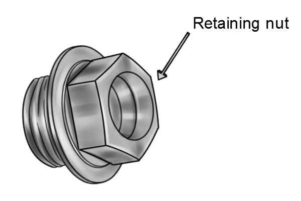 compression washer tap retaining nut