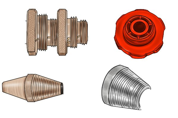 parallel and tapered threaded pieces for tap reseaters