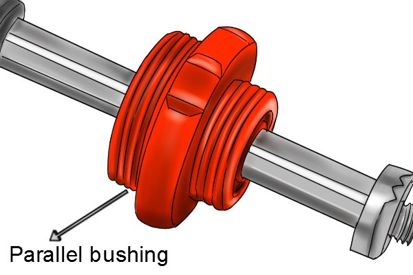 parallel tap reseater shaft