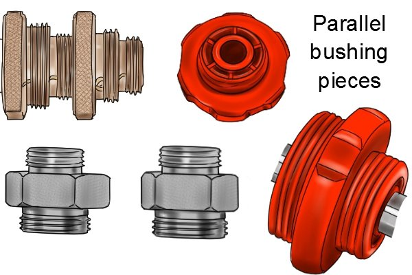 variety of parallel bushings for tap reseaters