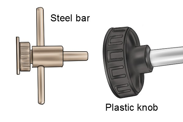 plastic and steel handle