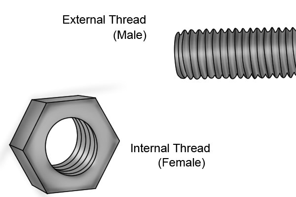 male and female threads