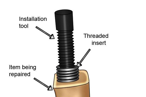 installation of threaded insert
