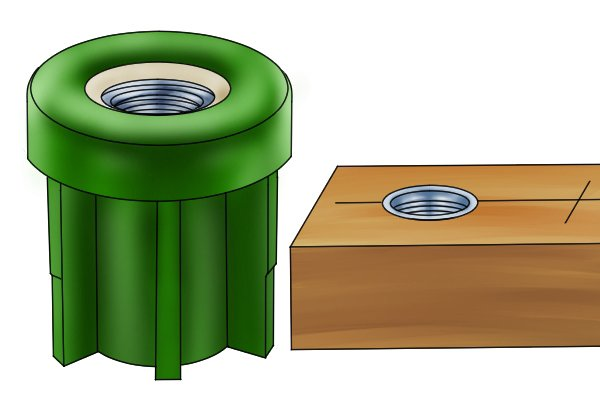 threaded inserts in plastic and wood