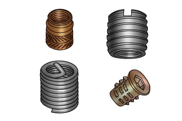 What are threaded inserts made of