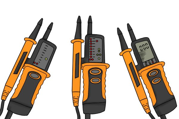 LED/ LCD indicators on voltage testers