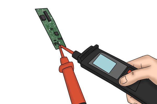 voltage tester used on circuit board battery