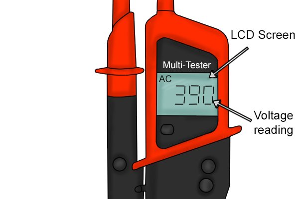 LCD screen voltage tester