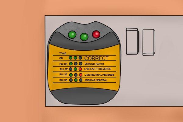 socket tester in use
