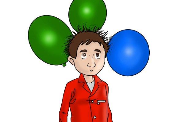 static hair balloons