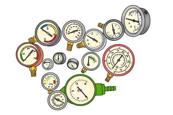 Different types of water pressure gauge