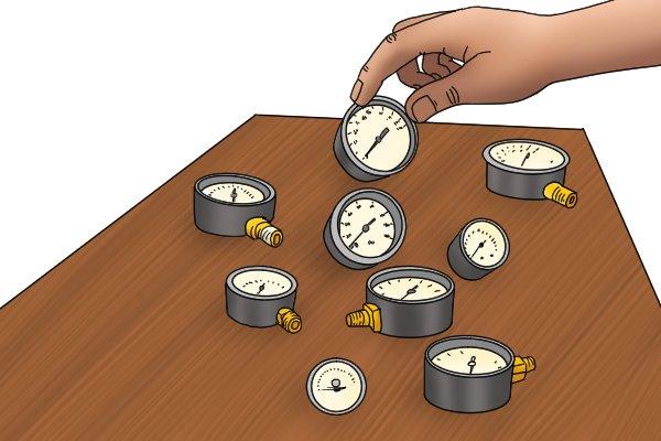 Choosing a pressure gauge, water pressure gauges