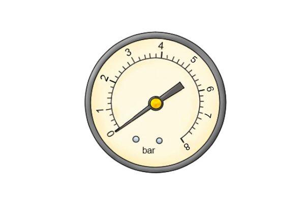 Bar dial large water pressure gauge easy to read wonkee donkee tools DIY guide