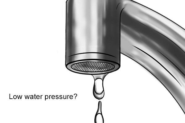 Low water pressure? Water pressure gauge, tap, faucet