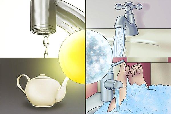 Water usage pie chart, water pressure testing, water pressure gauge
