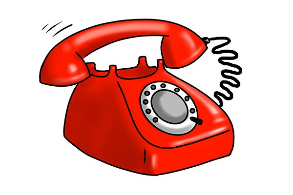 On the phone, calling the water board, contact water suppliers