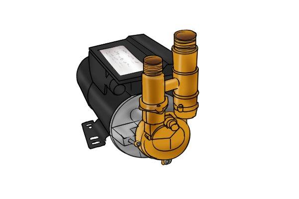 domestic water pump, increased water pressure, water pressure gauge