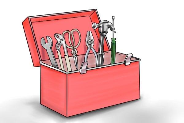 Water pressure gauge, storing it safely, toolbox