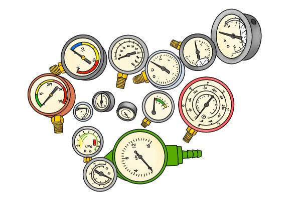 Different types of water pressure gauge