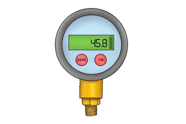 water pressure gauge digital display, illuminated display