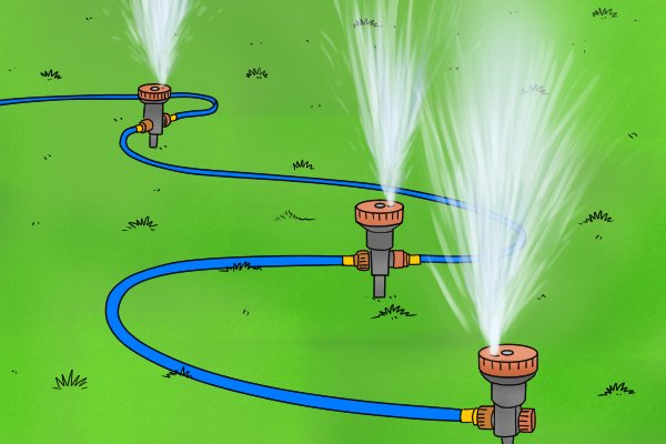 sprinkler system, water pressure, pressure gauge