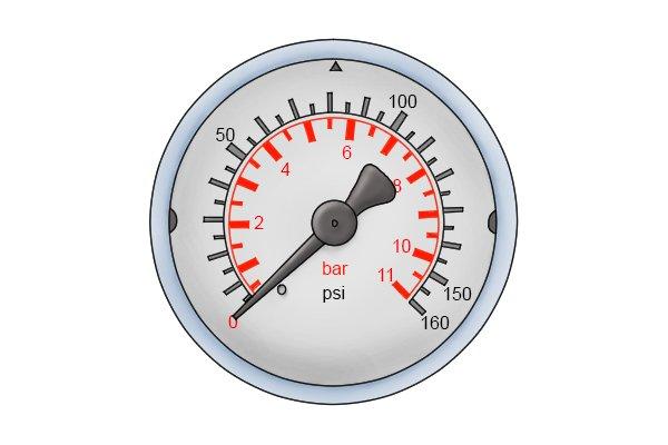 water pressure gauge with 11 bar scale wonkee donkee tools DIY guide how to use a water pressure gauge