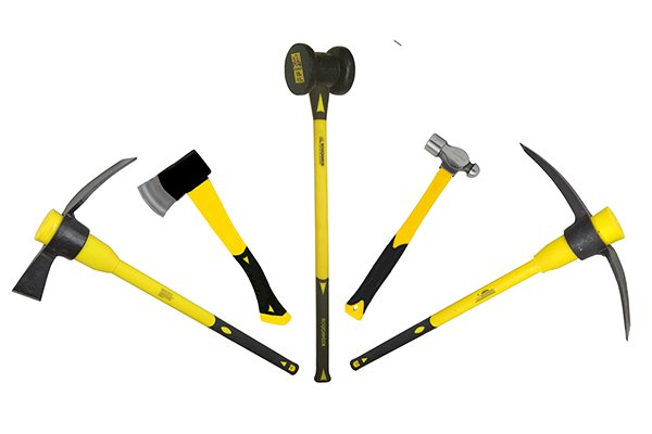fibreglass is widely used for handles on stricking tools