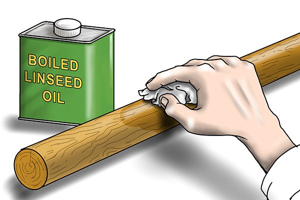 wooden handles should be treated with boiled linseed oil.