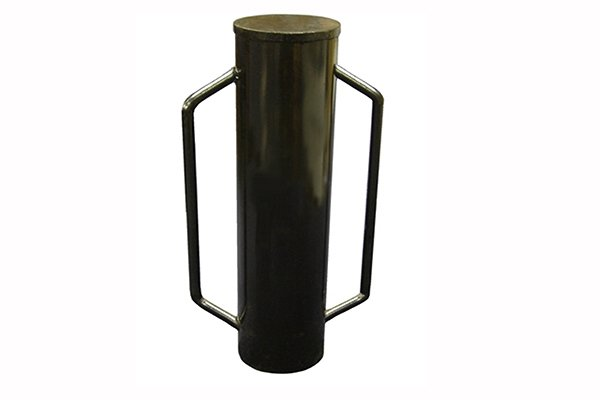 a post rammer is a two handled cylindrical tube used for driving metal or wooden posts into the ground using a pounding action